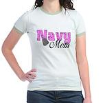 Navy Mom Jr. Ringer T-Shirt