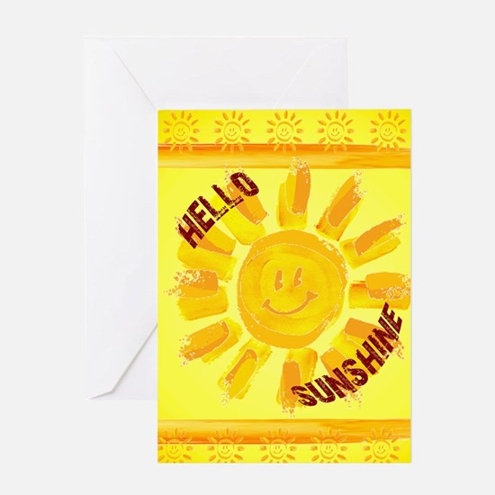 hello sunshine Greeting Cards