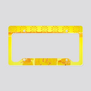 hello sunshine License Plate Holder