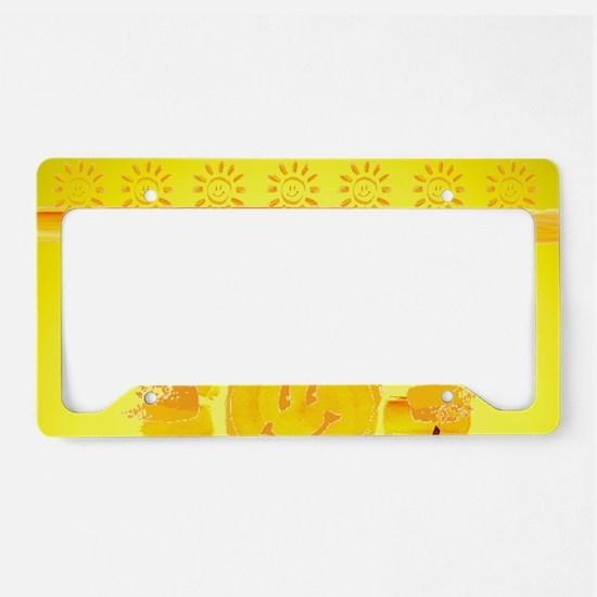 hello sunshine License Plate Holder