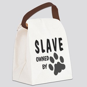 Slave owned by (paw print) Canvas Lunch Bag