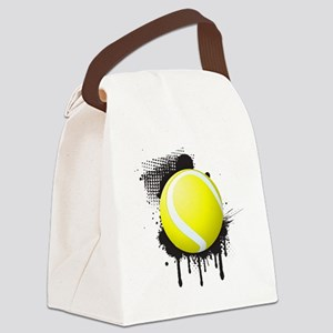 Abstract Black Ink Splotch with T Canvas Lunch Bag