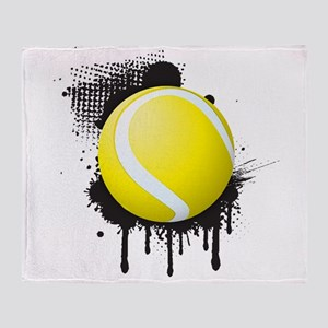 Abstract Black Ink Splotch with TENN Throw Blanket