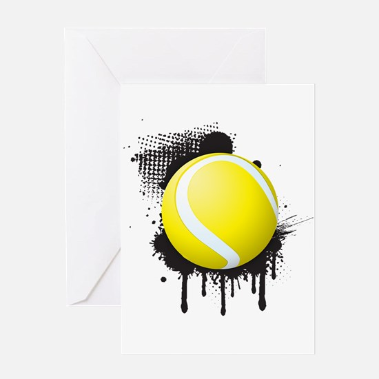 Abstract Black Ink Splotch with TEN Greeting Cards