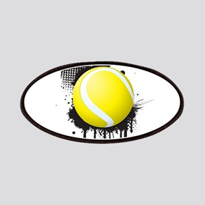 Abstract Black Ink Splotch with TENNIS Ball Patch