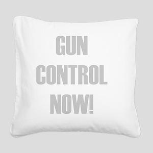 Gun Control Now Square Canvas Pillow