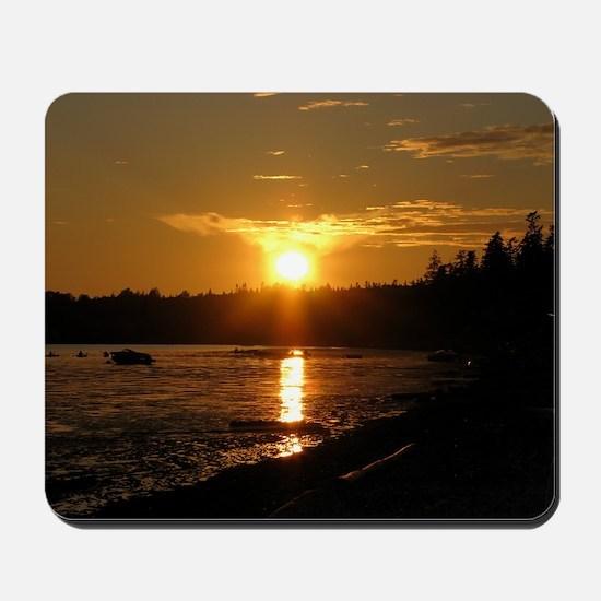 Birch Bay Sunset Mousepad