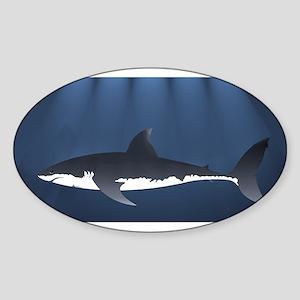 Danger Shark Below Sticker