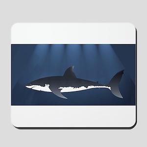 Danger Shark Below Mousepad
