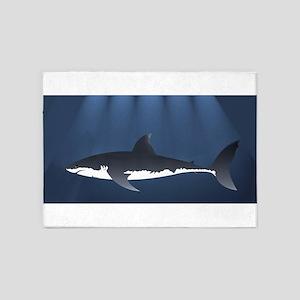 Danger Shark Below 5'x7'Area Rug