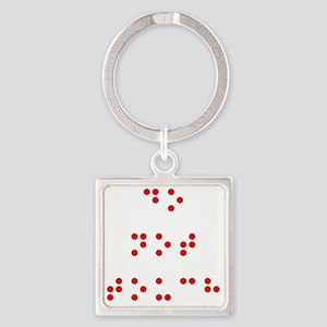 Do Not Touch (printed in Braille) Square Keychain