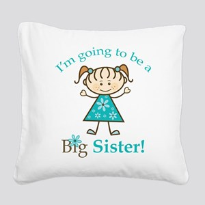 Big Sister to be Square Canvas Pillow