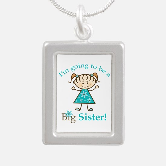 Big Sister to be Silver Portrait Necklace
