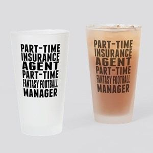 Fantasy Football Insurance Agent Drinking Glass