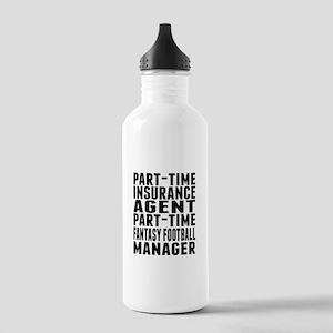 Fantasy Football Insurance Agent Water Bottle