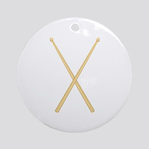 Drum Sticks Round Ornament