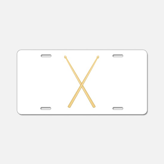 Drum Sticks Aluminum License Plate