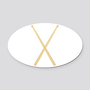 Drum Sticks Oval Car Magnet