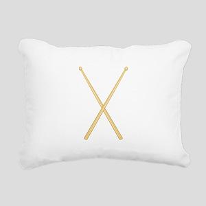 Drum Sticks Rectangular Canvas Pillow