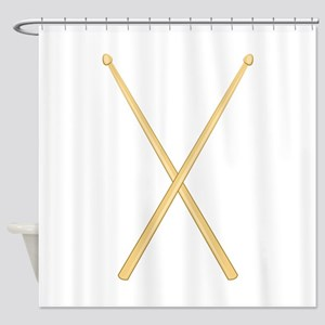 Drum Sticks Shower Curtain
