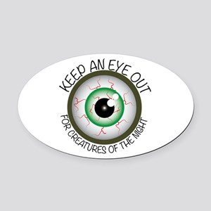 Keep Eye Out Oval Car Magnet