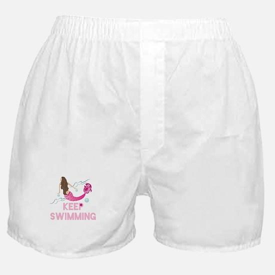Keep Swimming Boxer Shorts