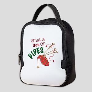 Set Of Pipes Neoprene Lunch Bag
