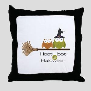 Halloween Hoot Throw Pillow