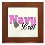 Navy Brat Framed Tile