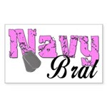 Navy Brat Rectangle Sticker