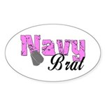 Navy Brat Oval Sticker