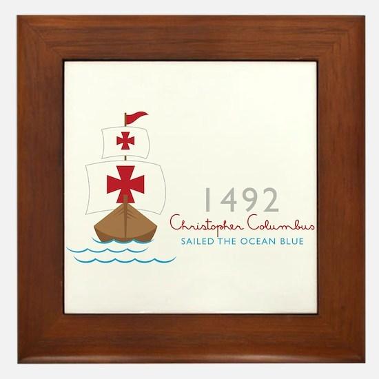 Christopher Columbus Framed Tile