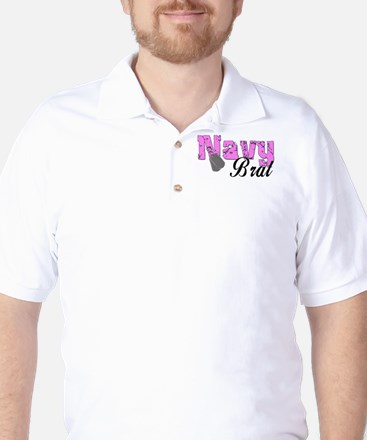 Navy Brat Golf Shirt