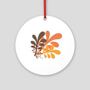 friendly Autumn Round Ornament