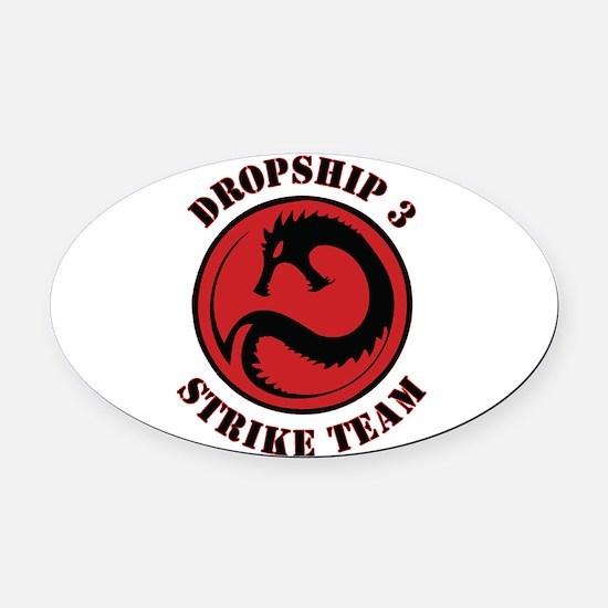 Kurita Dropship 3 Strike Team Oval Car Magnet