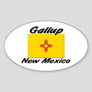 Gallup New Mexico Oval Sticker