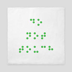 Do Not Touch in Braille (Green) Queen Duvet