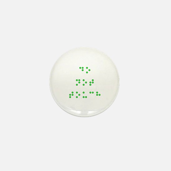 Do Not Touch in Braille (Green) Mini Button