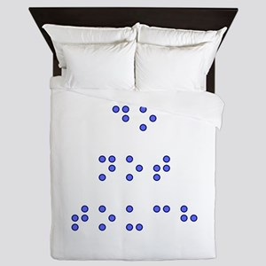 Do Not Touch in Braille (Blue) Queen Duvet