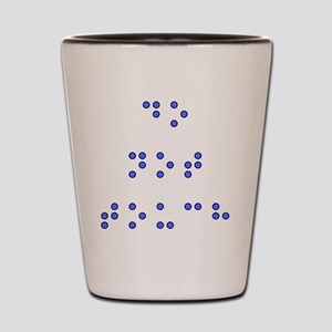 Do Not Touch in Braille (Blue) Shot Glass