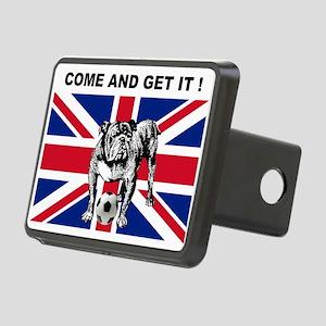 British Football Bulldog Rectangular Hitch Cover