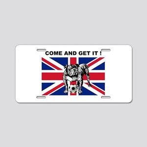 British Football Bulldog Aluminum License Plate