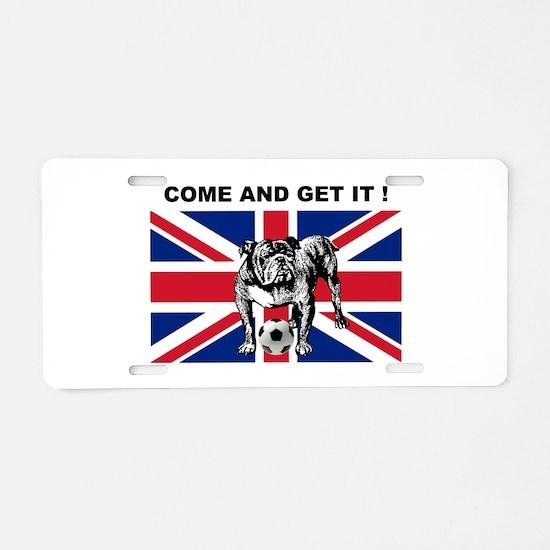 British Football Bulldog Aluminum License Plate