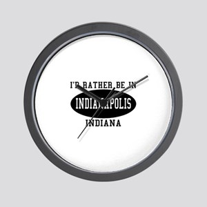 I'd Rather Be in Indianapolis Wall Clock