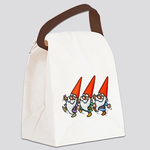 THREE GNOMES DANCING Canvas Lunch Bag