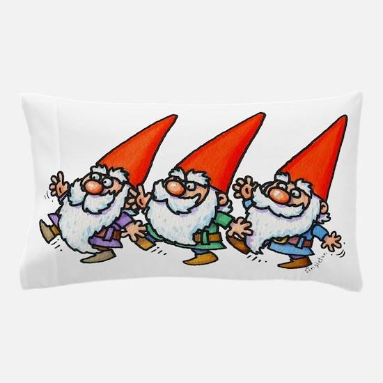 THREE GNOMES DANCING Pillow Case