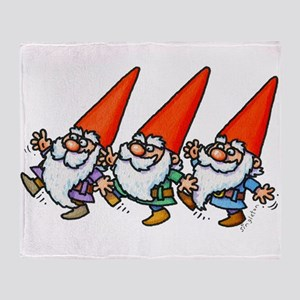 THREE GNOMES DANCING Throw Blanket