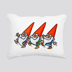 THREE GNOMES DANCING Rectangular Canvas Pillow