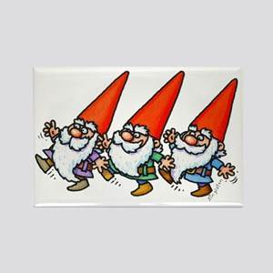 THREE GNOMES DANCING Magnets