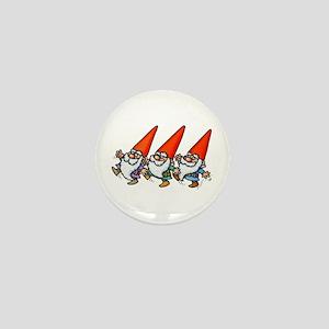 THREE GNOMES DANCING Mini Button